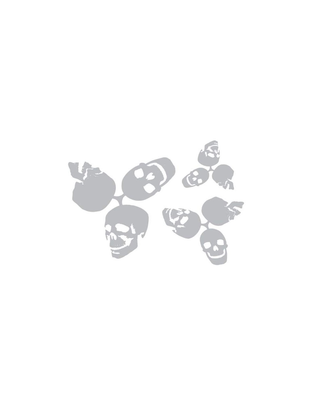 Turning Skull Stencil Set