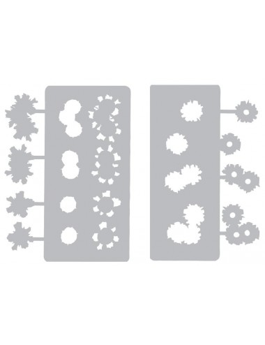 Bullethole Entry & Exit Stencil Set