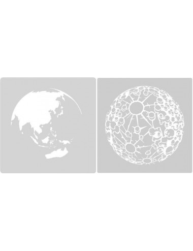 Earth & Moon Stencil Set A4